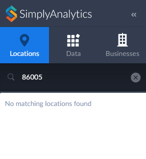 Why can't I find a known ZIP code / Postal code? – SimplyMap